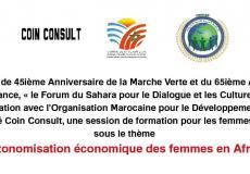 """دورة تكوينية بالرباط لفائدة النساء الافريقيات حول """"التمكين الاقتصادي للنساء"""""""