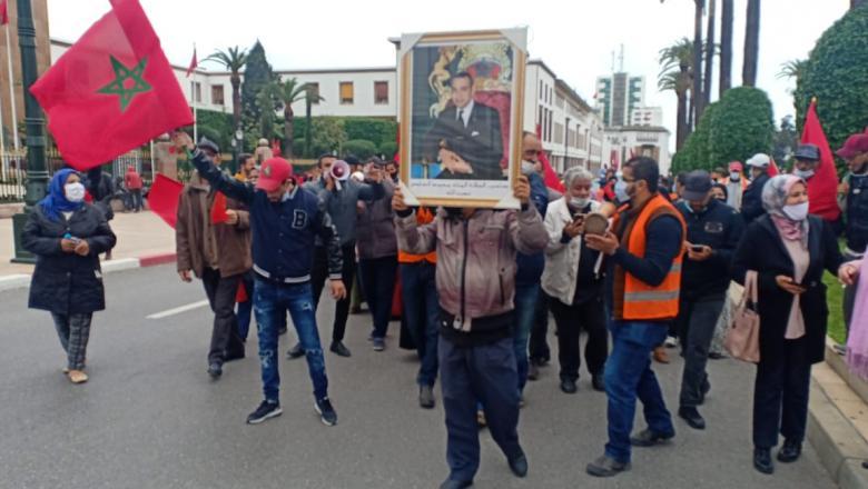 مسيرة عفوية بمدينة الرباط احتفاء بالانتصارات المتوالية لقضية الوحدة الترابية للمملكة