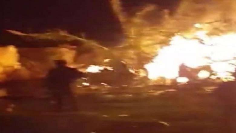 حريق اندلع بكانون بدوار أولاد بنعلي بالعرجات خلف خسائر مادية