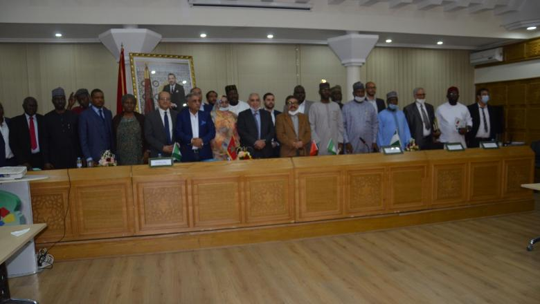 توقيع اتفاقية بغرفة التجارة والصناعة والخدمات لجهة الرباط ترمي إلى إنشاء مجلس الأعمال النيجيري- المغربي - فيديو -