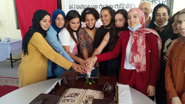 دار الطالبة سيدي يحيى زعير والمحسنين يحتفلون بالفتيات المتفوقات في الباكالوريا