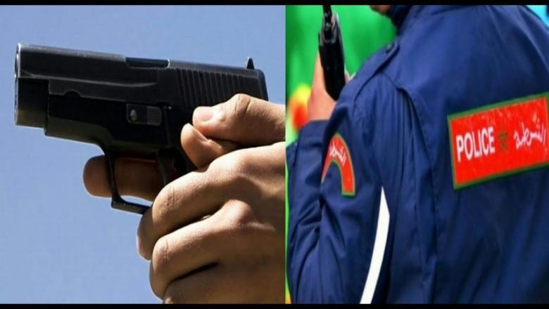 شرطي يضطر لاستعمال سلاحه الوظيفي لتوقيف شخص عرض أمن المواطنين وسلامة الشرطة لاعتداء خطير