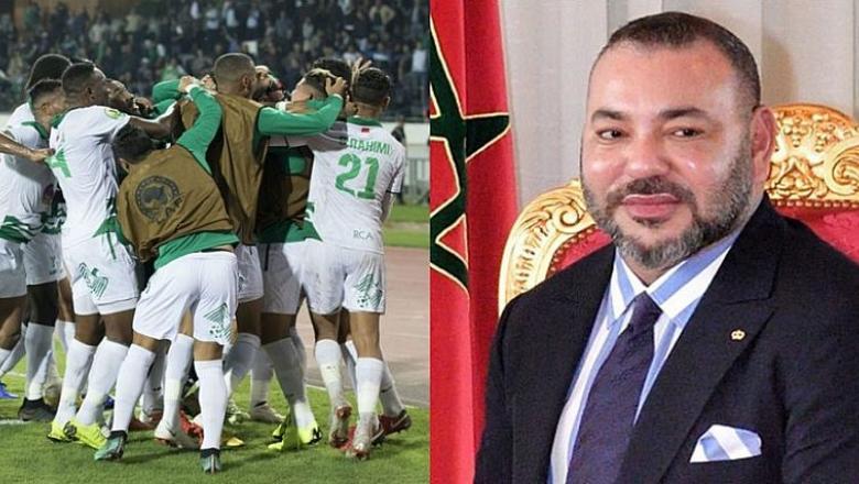 جلالة الملك يهنئ فريق الرجاء الرياضي بمناسبة فوزه بكأس محمد السادس للأندية العربية الأبطال